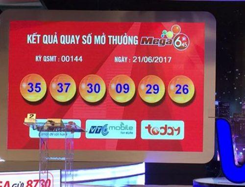 Hà Nội là nơi phát hành tờ vé số may mắn trúng Jackpot trị giá hơn 21 tỷ đồng